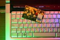 sklep internetowy, klawiatura, karta kredytowa, zakupy online