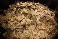 dużo pieniędzy