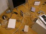 kable na biurku